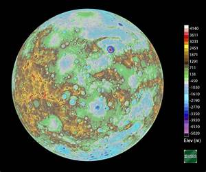 Map of Mercury: Topographic Landscape Model Made Up of ...