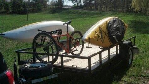 homemade kayak bike mounts  utility trailer