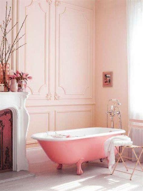 rustic pink bathroom  bathtub design homemydesign