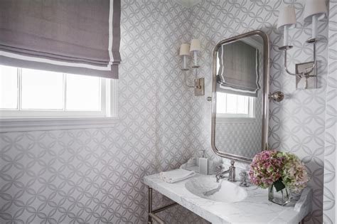 gray powder rooms transitional bathroom marie