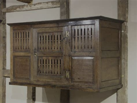 Rare Welsh Oak Wallhanging Cupboard Circa 1700