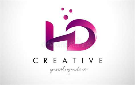 Letra Logo Design De Hd Con Colores Púrpuras Y Puntos