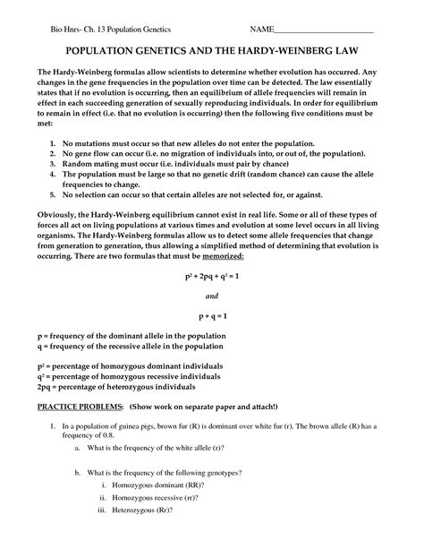 13 Best Images Of Population Genetics Worksheet  Meiosis Coloring Worksheet, Genetics And