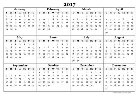 2017 calendar template pdf 2017 calendar pdf weekly calendar template