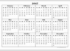 2017 Calendar Pdf weekly calendar template