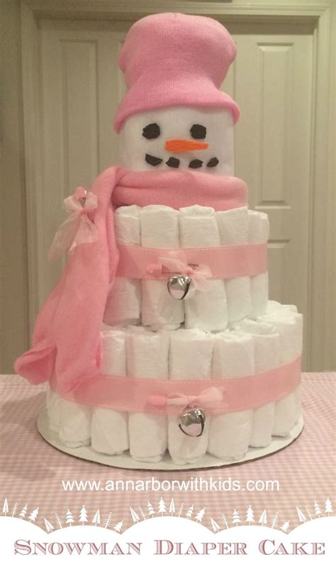 snowman diaper cake directions baby shower christmas