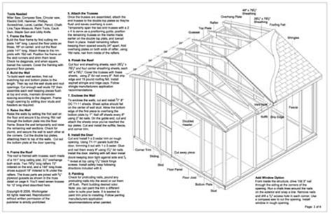 Garden Shed Plans 12x12 by 12x12 Gable Storage Shed Plans Buy It Now Get It Fast