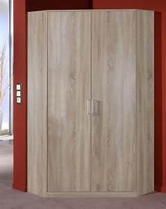 Armoire D Angle : armoire d 39 angle 2 portes oskar chene fonce ~ Teatrodelosmanantiales.com Idées de Décoration