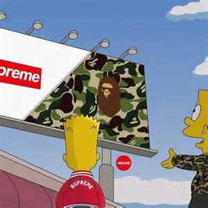 Bart Simpson with BAPE Supreme