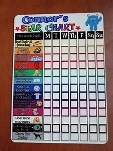 Magnetic Star Chart Dry Erase Board 9x12 Kids Chart Chore
