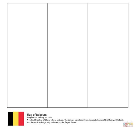 flag  belgium coloring page  printable coloring pages