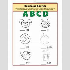 Beginning Sounds Worksheets  Abcd  Phonics Worksheet