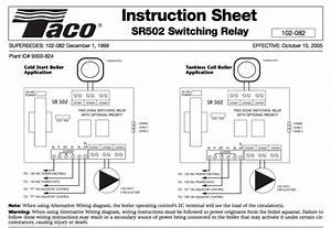 Taco Sr502 4 Wiring Diagram