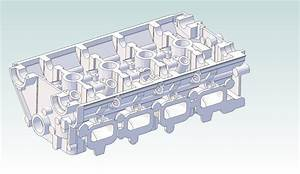 4G63 Cylinder Head - Geomagic Design,STEP / IGES - 3D CAD ...