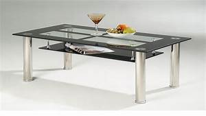 black glass coffee table with chrome legs homegenies With glass coffee table with black legs
