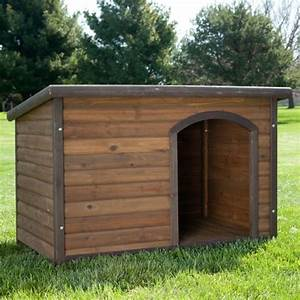 Home depot dog house habitats log cabin dog house size for Large dog house size