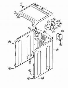 Cabinet Diagram  U0026 Parts List For Model Mde7400ayw Maytag