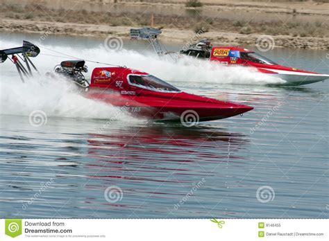 Drag Boat Racing Start by International Hydroplane Boat Drag Racing Editorial Image