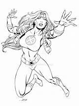 Jean Grey Marvel Phoenix Dark Sketches Lineart Queen Deviantart Comics Pre04 sketch template