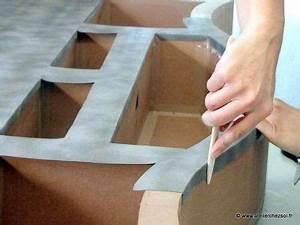Objet En Carton Facile A Faire : nouveau patron de meuble en carton en pr paration jolis papiers l 39 atelier chez soi ~ Melissatoandfro.com Idées de Décoration