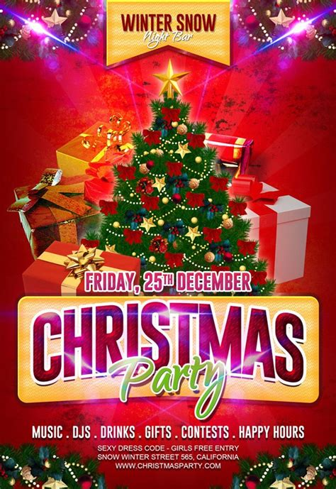 christmas party flyer 30 free flyers and new year flyer psd templates