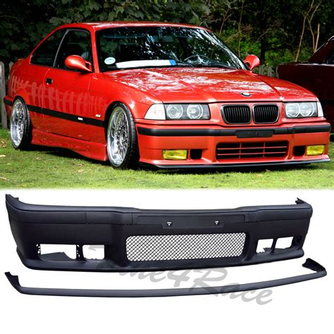 92 98 bmw e36 3 series m3 style front bumper kit lip 2 4 drs new ebay