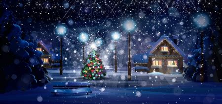 winter night winter nature background wallpapers