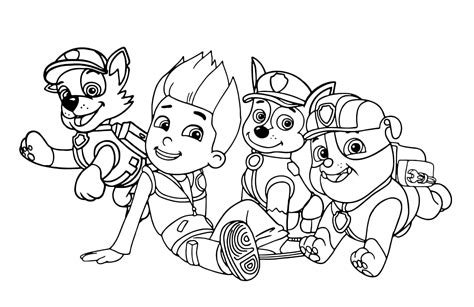 paw patrol printable coloring pages sodipodiorg