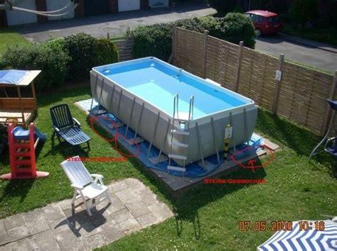 schwimmbecken zum aufstellen aufbau intex pool pool aufbau intex ultra quadra