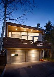 Front View Of Small Contemporary House In Swiss Style