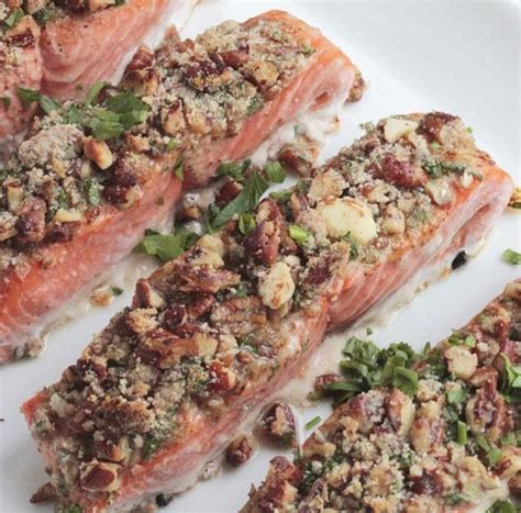 Our creamer is sugar free and has only 1g of net carbs. Pecan Crusted Salmon Filets - Dr. Kellyann