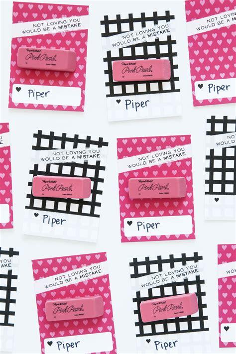 pink eraser valentine  printable paging supermom