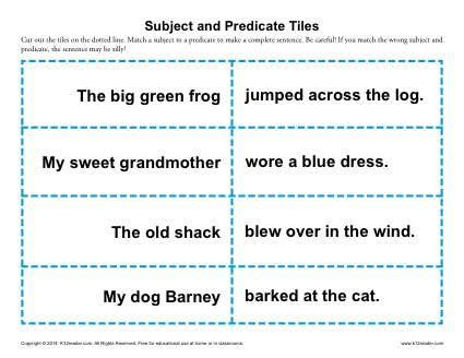 subject predicate worksheet 2nd grade worksheets for all