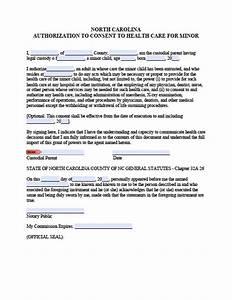 Poa For Child North Carolina Minor Child Power Of Attorney Form Power
