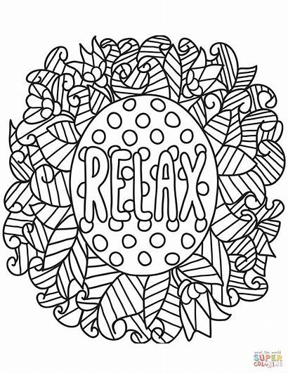 Coloring Relax Pages Printable Adults Books Quotes