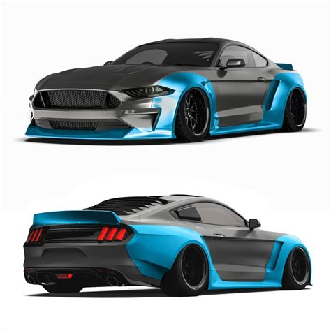 2018 Ford Mustang Widebody Kit, Fits 2018+ Ford Mustang Gt
