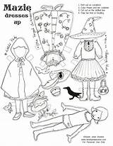 Halloween Paper Dolls Crafts Doll Paperdolls Holidays Clothespin Happy Costumes Da Di Activities Dress sketch template
