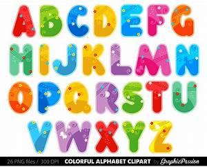 alphabet clipart color alphabet digital alphabet letters With letter art pictures