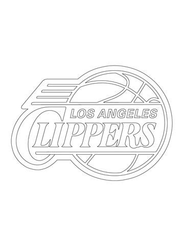 Los Angeles Clippers Coloring Pages Learny Kids