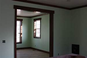 Interior paint colors with wood trim new home the wood for Interior paint ideas dark trim