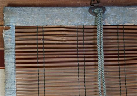 Antique Sudare Japanese Hand Made Bamboo Curtain 1900 Japan Buddhist Temple Make Your Own Thermal Curtains Microfiber Curtain Panels Hanging Bed From Ceiling Mounting Hardware For Rods Using As Doors Lilac Shower Octagon Windows Burnt Orange