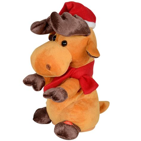 animated plush musical reindeer boogie christmas decoration