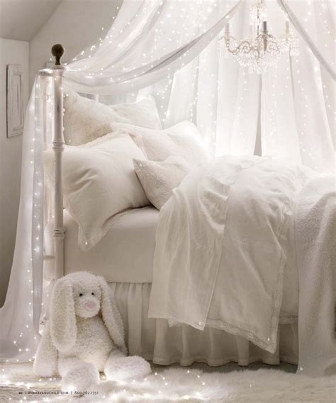 twinkle lights for bedroom girls bedroom all white bedding and canopy with twinkling 17654 | c727e8a5c405cac98346e7db21b468b3