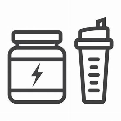 Protein Icon Shaker Whey Fitness Nutrition Sport