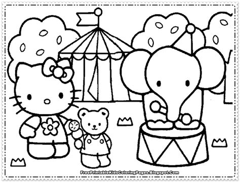 Hello Kitty Coloring Pages For Girls Free Printable Kids