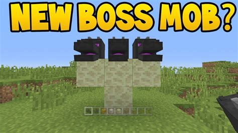 New Boss Mob Added To Minecraft ? Youtube