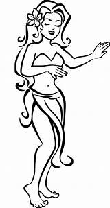 Coloring Hula Pages Hair Flower Dancer Drawing Lovely Hawaiian Silhouette Dancers Sheet Getdrawings Colorings Coloringsky sketch template