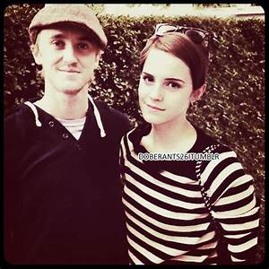 Cute! Tom Felton and Emma Watson | Tom Felton and Emma ...
