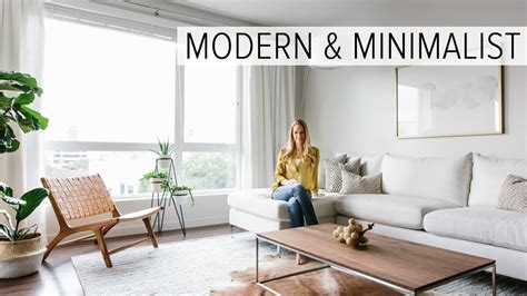 Minimalist Condo Living by Apartment Tour My Modern Minimalist Living Room Tour
