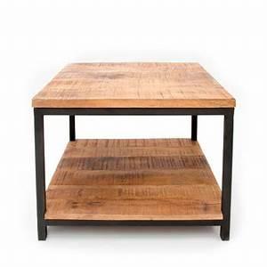 Table Basse Bois Metal : table basse design et table basse gigogne drawer ~ Teatrodelosmanantiales.com Idées de Décoration